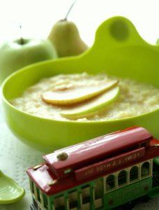 каша с яблоком и рисом