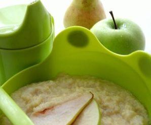 Рисовая каша с яблоком и грушей