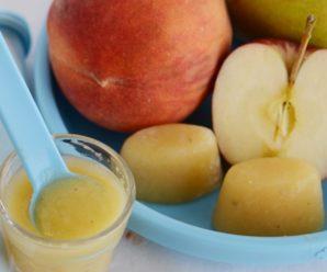 Пюре из яблока, персика и банана