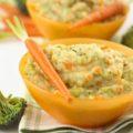 Пюре из моркови, картофеля, брокколи с сыром