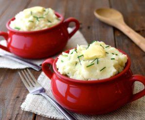 Пюре из цветной капусты, картофеля и кабачка