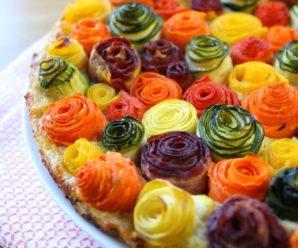 Пирог из кабачка и моркови