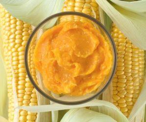 Кукурузная каша с тыквой и морковью