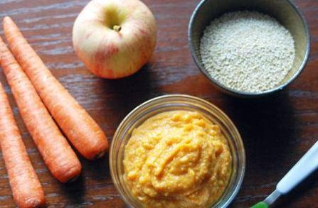 кукурузная каша с яблоком и морковью