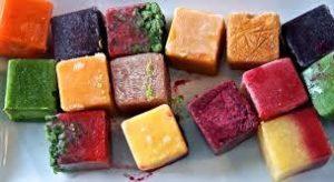 кубики замороженного детского питания