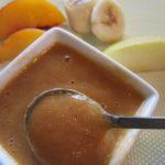 пюре яблоко, персик и банан