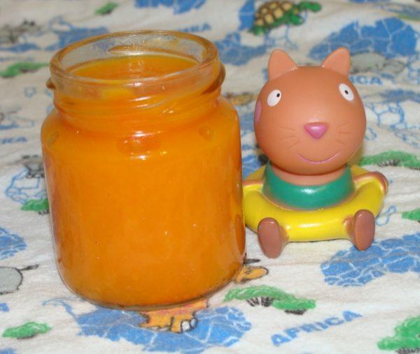 Пюре морковь с тыквой