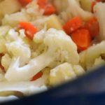 пюре из цветной капусты и моркови