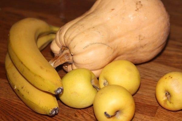 банан тыква яблоки