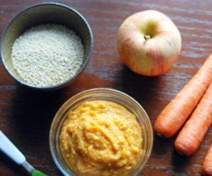 Пюре из киноа, яблока, моркови