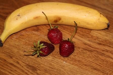 пюре из клубники и банана