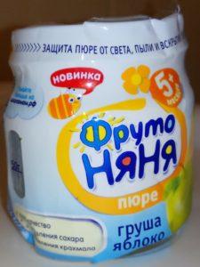 Детское пюре Яблоко-Груша Фрутоняня