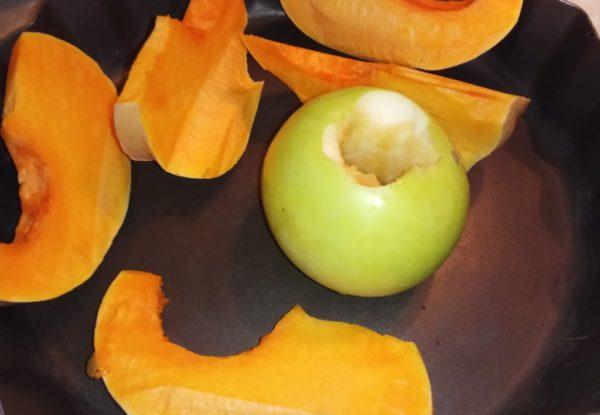 пюре из тыквы и яблок
