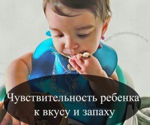 Чувствительность ребенка к вкусу и запаху