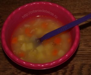 Овощной суп с кукурузной манкой
