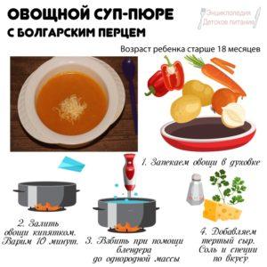 Овощной суп-пюре с болгарским перцем