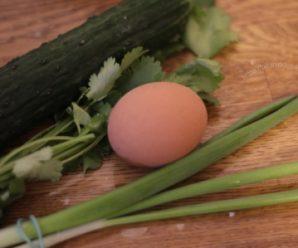 Детский салат из огурцов