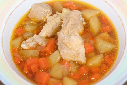 Суп/рагу из свинины с картофелем и морковью