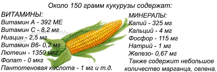 минералы и витамины кукуруза