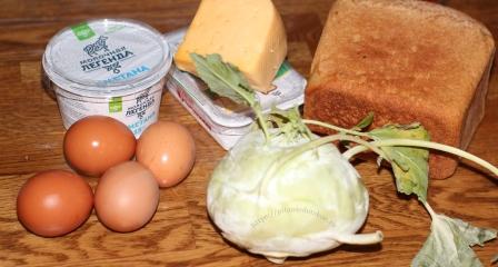 Бутерброд с кольраби
