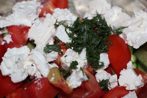 салат сыр фета