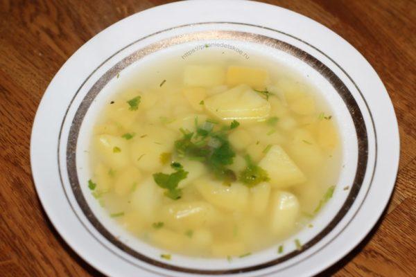 детский суп с картофелем и репой