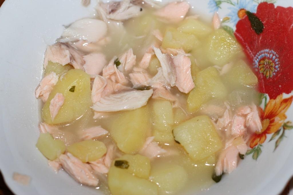 детский суп с лососем