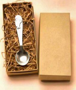 серебряная ложка для малыша