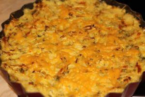 Пирог из риса и кабачков