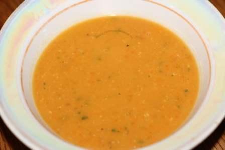 суп-пюре с вермишелью и чечевицей