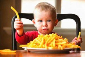 вредные продукты в питании детей